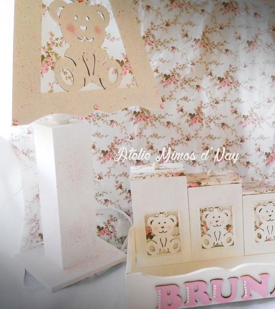 Kit higienico ursa - artesanato em mdf  https://www.facebook.com/ateliemimosdnay/