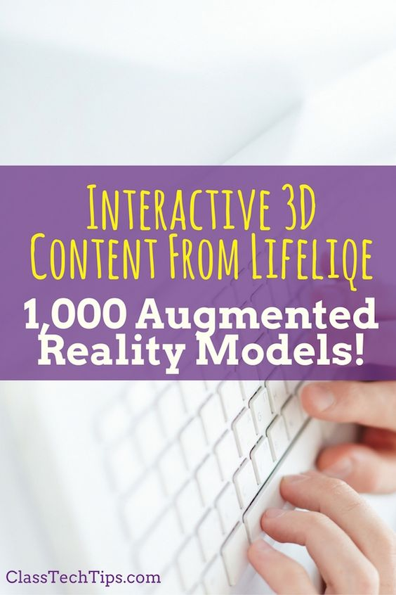 Teachers can use augmented reality with Lifeliqe - every single one of their…