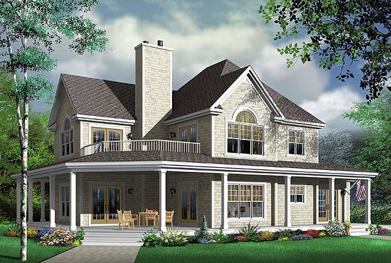 The heritage 2 is a great vacation and coastal home plan featuring four bedrooms and 3 5 baths Two story holiday homes