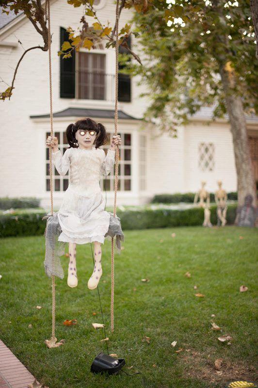 35 Scary Draussen Halloween Ghost Dekorationen Ideen Halloween Deko Outdoor Halloween Halloween Selber Machen