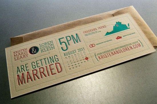 Kristen + Loren's Modern Diagram Letterpress Wedding: