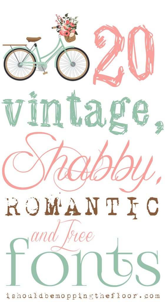 Free vintage shabby and romantic fonts instant Cute font generator free