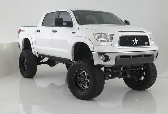 """2011 Toyota Tundra with 12"""" Bulletproof Suspension Lift Kit."""