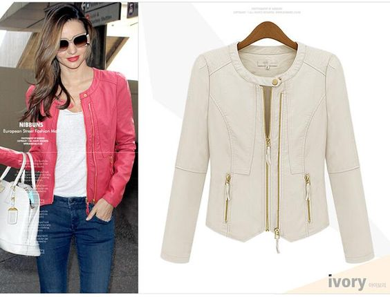 Spring Autumn New Women Fashion Long Sleeve Small Jacket Coats