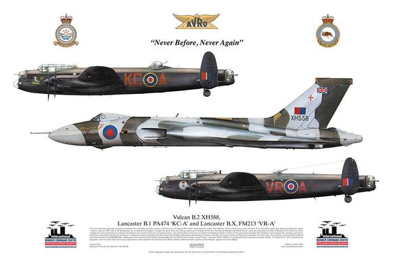 Avro Vulcan and Lancaster, Never Before, Never Again