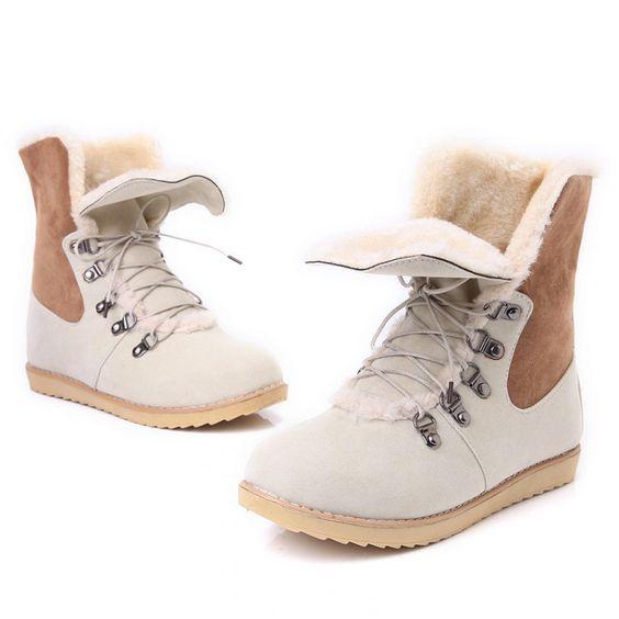 зимние ботиночки мех на шнуровке
