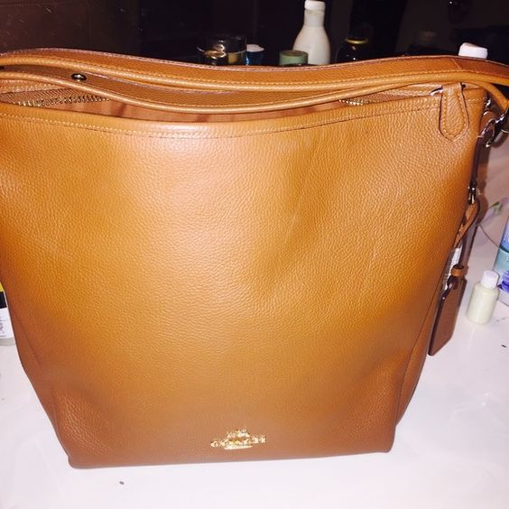 Coach leather bag Brown leather bag Coach Bags Shoulder Bags