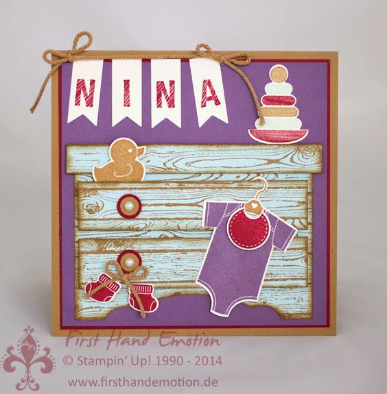 Stampin' Up! by First Hand Emotion: IN{K}SPIRE_me Challenge #154: Something for Baby
