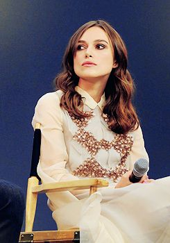 "Keira Knightley attends a Q&A for ""Begin Again"" at the Regent Street Apple Store in London (July 2nd, 2014) (x)"