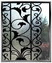Decorative Faux Wrought Iron Bars With Window Film