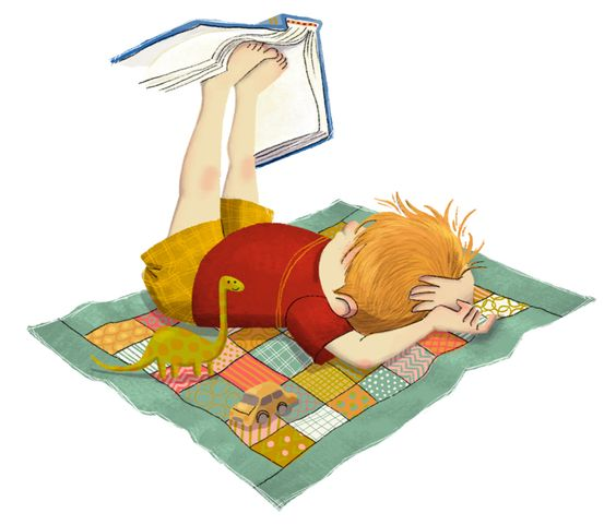 reading-boy- childrens book illustrator Erin Taylor: