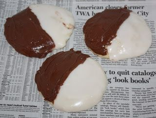 Black and white cookies, Black and white and Cookies on Pinterest