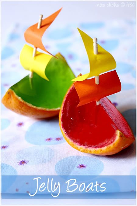 Jelly boats. Made these for my son's last birthday and plan to every year I can get away with them!