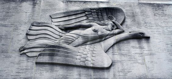 Bas-relief of Leda and the Swan