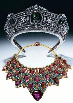 Tiara and collar.