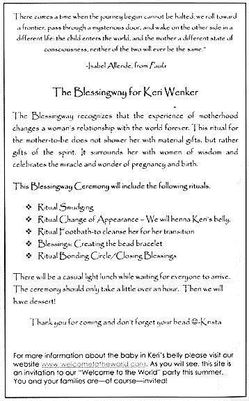 Keri's Blessingway