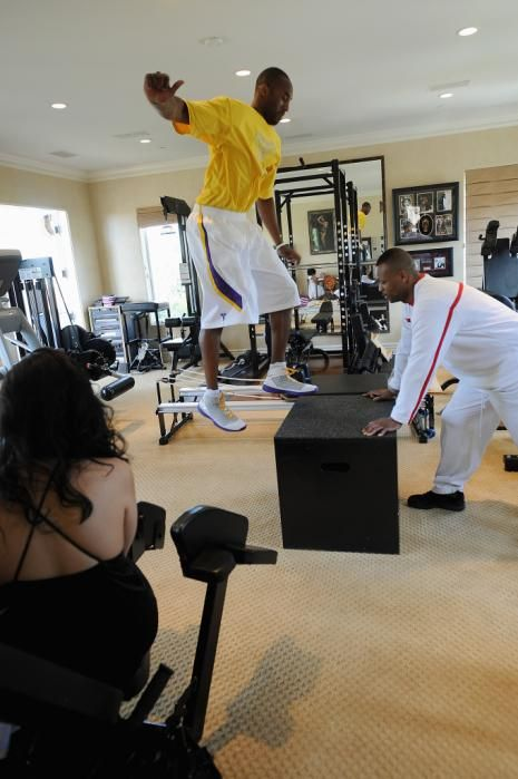 The pro basketball player had an 850-square-foot gym installed not long ago in the mansion.