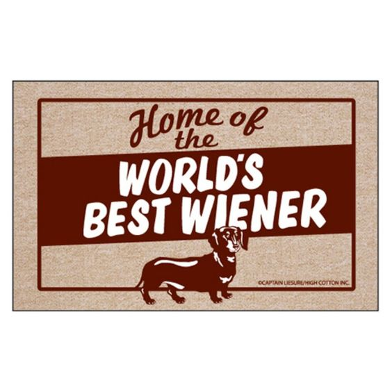 High Cotton World's Best Weiner Indoor / Outdoor Doormat