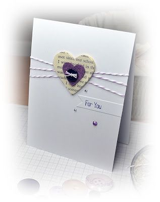 simple valentine w heart shaped punch, lavender and cream