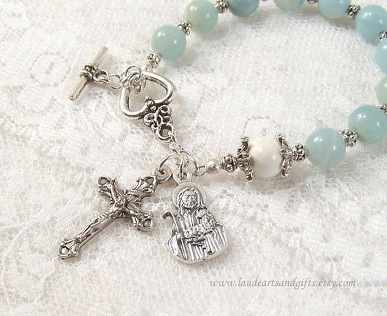 Good Shepherd Rosary Bracelet Chaplet Prayer by LaudeArtsandGifts, $22.50