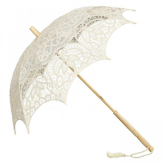 Kanten parasol Sienna crème