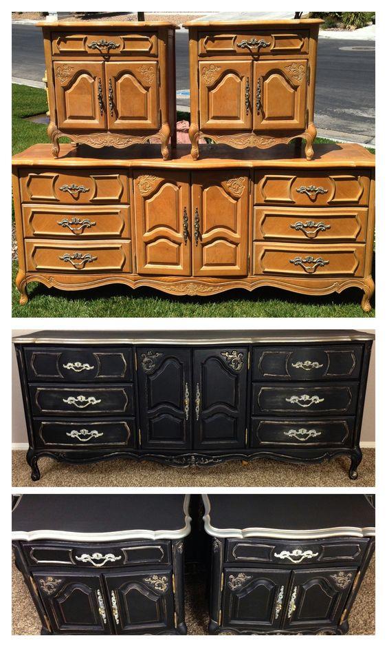 wwwfacebookcomvintagekeyantiques vintage shabby refinished painted before astonishing pinterest refurbished furniture photo
