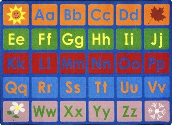 Any Day Alphabet Rug Jc1710xx Joy Carpets Classroom