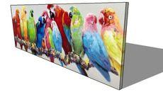 3D Model of Toile perroquets multicolores 70 x 200 cm LUCIANA, Maisons du monde, ref : 154955, prix : 149,90 €