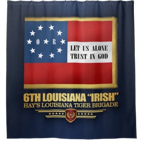 6th Louisiana Irish Infantry Shower Curtain Zazzle Com