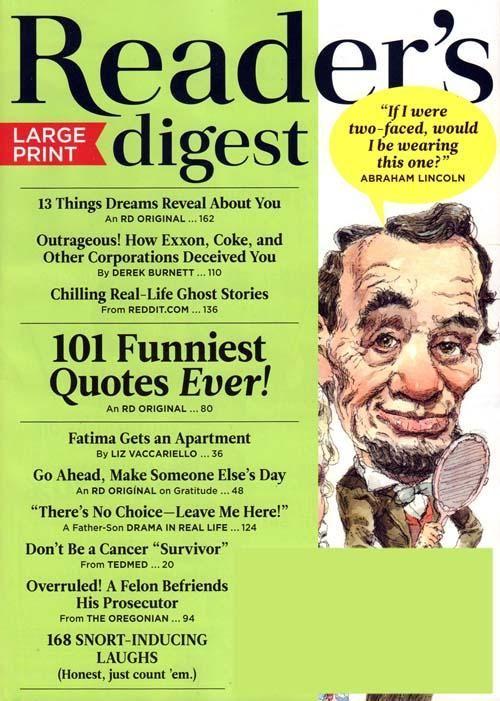 Reader S Digest Large Print Readers Digest Readers Print Magazine