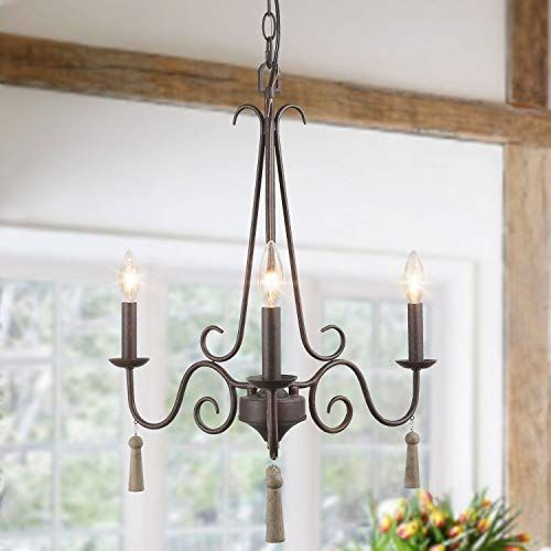 Check Out Log Barn Farmhouse Chandelier 3 Lights Metal French Country Chandelie In 2020 French Country Chandelier Country Chandelier Dining Room Light Fixtures