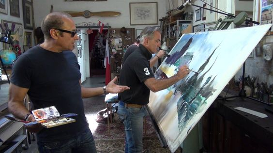 Watch three master watercolorists paint one painting: Alvaro Castagnet, Herman Pekel, Joseph Zbukvic.