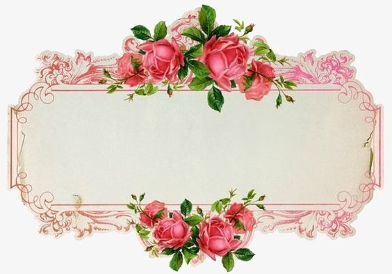 Flowers Border Frame Flowers Png Transparent Clipart Image And