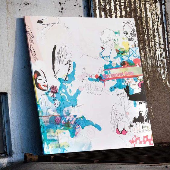 canvasprint /lærredsprint from shop.anetmai.com Kunst til dit hjem. Anetmai sælger plakater, postkort og lærredsprint. Dette lærredsprint er udarbejdet til Støt Brysterne, Kræftens Bekæmpelse, hvor overskuddet gik til Brystkræft.