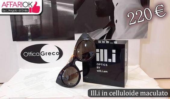 Occhiali donna Ill.i, con frontale in celluloide maculato http://affariok.blogspot.it/2015/08/occhiali-donna-illi-con-frontale-in.html