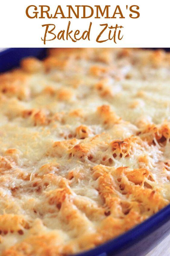 Grandma's Baked Ziti - Vegetarian casserole, 5 ingredients