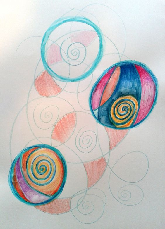 One to One Mandala session - automatic drawing excercise July 2014