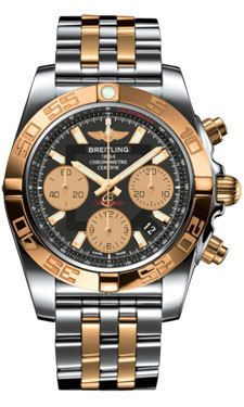Breitling Watches - Chronomat 41 Steel and Gold Steel and Gold Pilot Bracelet CB014012/BA53-pilot-steel-rose-gold