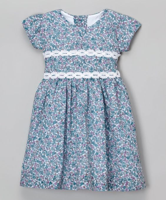 Look at this Mi Petite White & Green Floral Dress - Infant & Toddler on #zulily today!