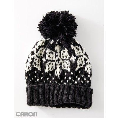 Nordic Flake Hat-free knit pattern to download @ Yarnspirations ...