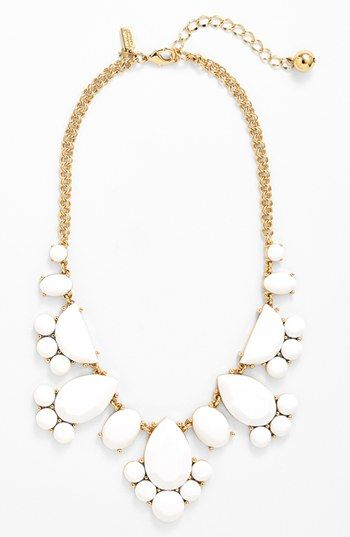 kate spade new york 'day tripper' stone bib necklace available at #Nordstrom in white