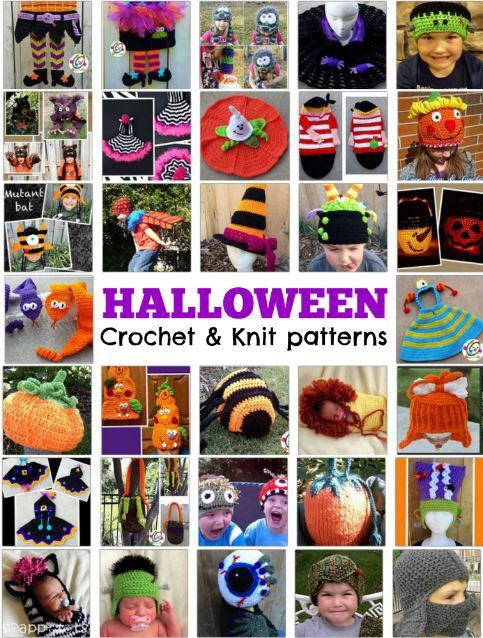 Halloween crochet and knit patterns.