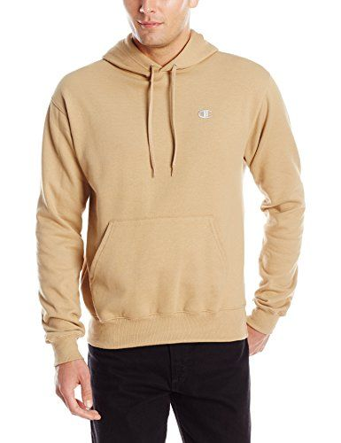 Champion Men's Pullover Eco Fleece Hoodie, Caramel Drizzle, X ...