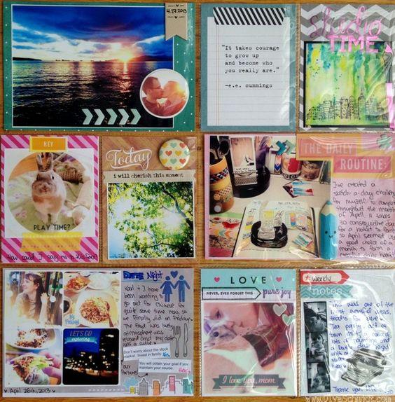 Project Life 2013 week 17 using @Amy Lyons Lyons Lyons Tangerine by Olya Schmidt