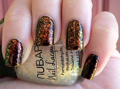 Nubar 2010 over black. I've lusted for this polish and finally bought TWO bottles!