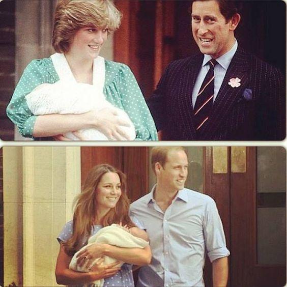 Princess Diana & Prince Charles/Princess Catherine & Prince Williams, está tentando copiá-la