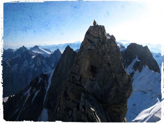 De top van de Dent du Geant