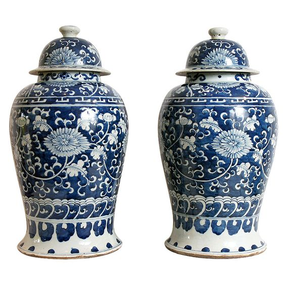 Pair of Chinese Temple Jars