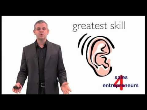 The most important skill you can develop as a sales person is the ability to listen and understand what your prospects are telling you. There are two forms o...