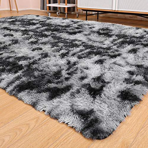 Ophanie Ultra Soft Fluffy Area Rugs For Living Room Luxury Shag Rug Faux Fur Non Slip Tie Dyed Floor Carpet For Be In 2020 Rugs In Living Room Bedroom Carpet Shag Rug